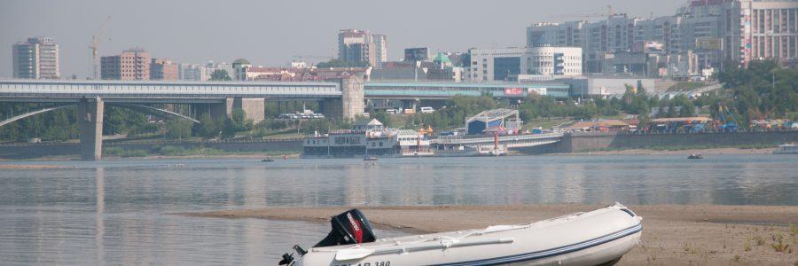 Прогулка на моторной лодке по Оби, Новосибирск