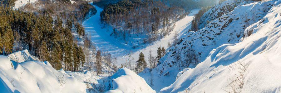 Зимние Бердские скалы