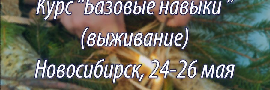 Базовые навыки (выживание) Новосибирск, 24-25 мая