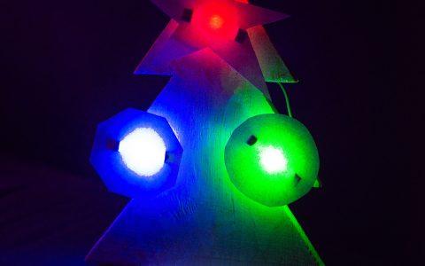 Ёлка-светильник, мастер-класс для детей, 7 декабря 2019 г.