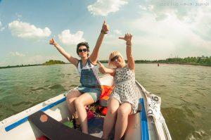 прогулки на моторной лодке Новосибирск