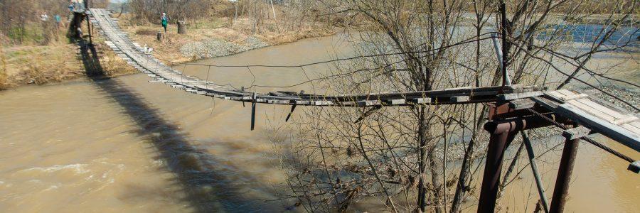 Подвесной мост в Новососедово