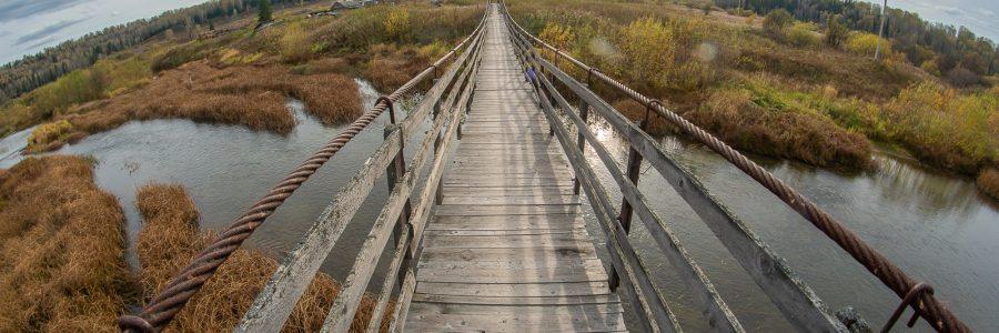 Мост в деревне Петени